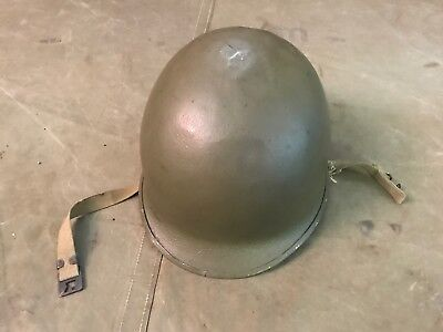 85B Original Wwii Us Army M1 Front Seam Fixed Bail Helmet