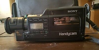 Vintage Sony Handycam CCD-F70 Video 8 camera, W/Charger And Accessories