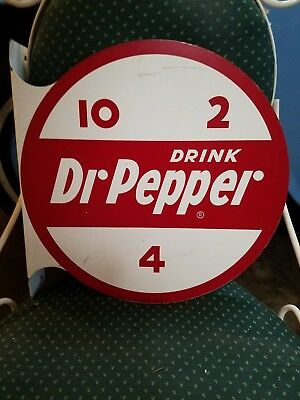 10-2-4 DR PEPPER flange advertising Sign soda gas station rare store farm feeds