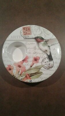 Natures Journey Margolin Bastin Votive Holder Hummingbird EUC
