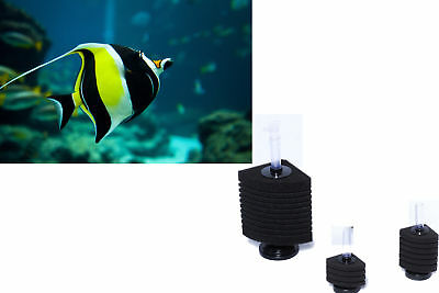 Corner Bio Sponge Filter Breeding Shrimp Nano Fish Tank Aquarium 7.5 10 20 35Gal