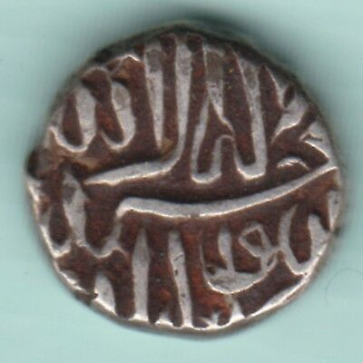 Mughal India Mohammed Akbar Mehmoodi Extremely Rare Silver Coin