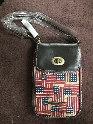 New! Longaberger Phone Case American Flag, Patriotic W Tassel