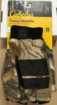 f357c89360245 Cabela's Camo Fleece Glomitts wth Thinsulate Insulation Men's Heavyweight  2XL