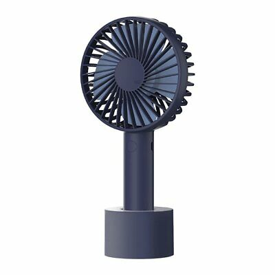 Caynel Portable Mini Handheld Electric Fan 3 Speeds USB Rechargeable Navy Blue