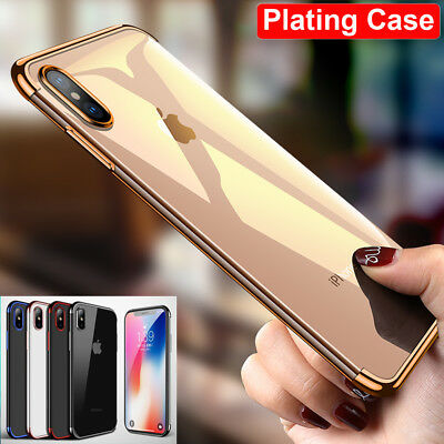 Ultra Thin Shockproof Silicone TPU Case for iPhone Xs Max/Xr Plating Phone Cover