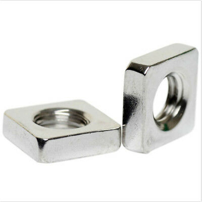 100X M3x5.4x1.8mm A2 STAINLESS STEEL SQUARETHIN  NUTS  DIN 562