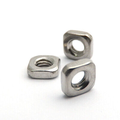 100X M4X6.9X2.1mm  A2 STAINLESS STEEL SQUARE THIN  NUTS  DIN 562