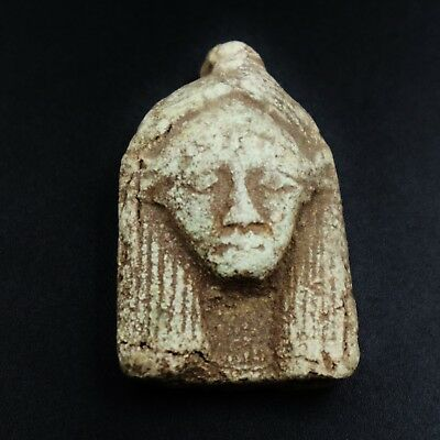 Rare Ancient Egyptian Faience Amulet Figurine, 600-300 BC.