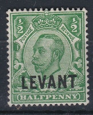 1912 GV DOWNEY LEVANT OVPT 1/2d GREEN MOUNTED MINT (SG339/L14)