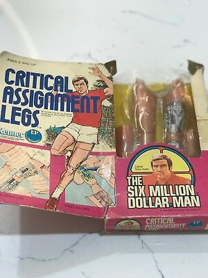 Rare Boxed Six Million Dollar Man Critical assignment Legs