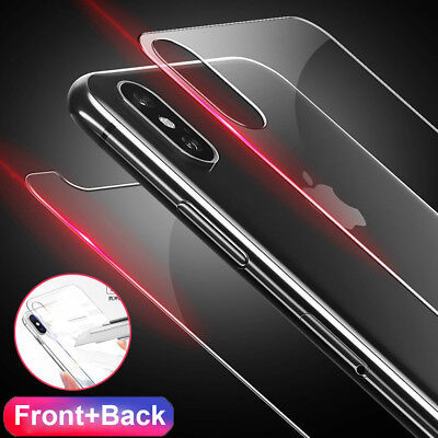 HD 9H Tempered Glass Screen Protector for iPhone XS Max/XR Front Rear Film Guard