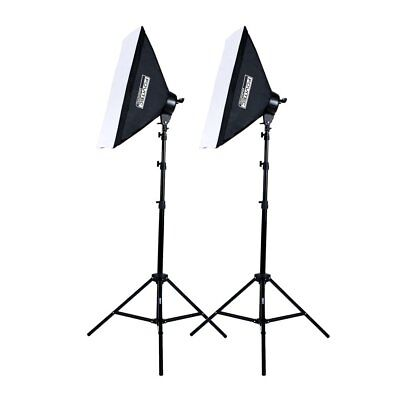 Fovitec - 2 x 2000w Fotografia Foto Video Studio Softbox Kit Illuminazione
