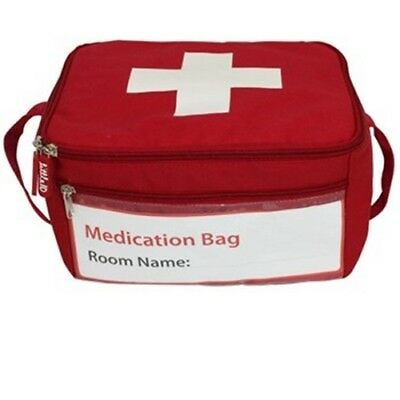 Medication Bag or First Aid bag - insulated RED - NEW