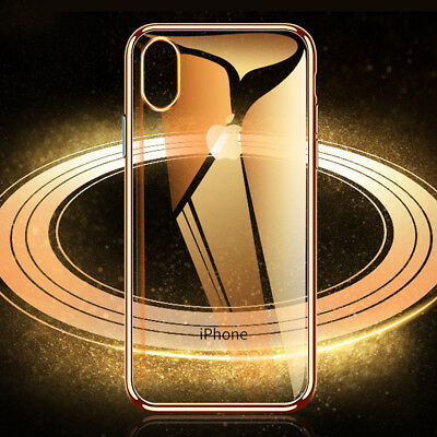 Ultra Slim Plating Silicone Case for Apple iPhone XS Max 6.5/Xr Shockproof Cover