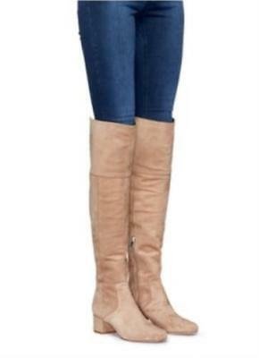 b0d0e748947 Sam Edelman Elina Oatmeal Suede Over the Knee OTK Womens Boots Size 8.5