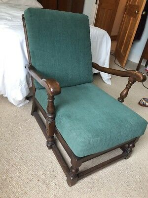 Ercol Vintage Armchair Wood Art Deco Chair