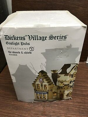 Dept 56 Dickens Village- The Sword & Shield -NIB--Free Shipping