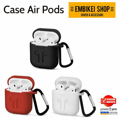 Per Airpods Custodia Cover in Silicone Protettivo Aderente per Apple Airpod
