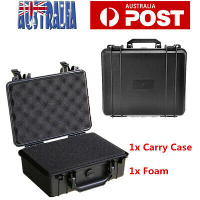 Waterproof Hard Plastic Carry Case Bag Tool Foam Padded Storage Box Portable Box