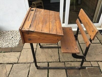 antique Vintage school desk Solid Wood Made In Cape Town