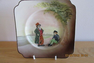 """Rare Royal Doulton Seriesware """"TheArtful Dodger and Oliver Twist"""" Sandwich Plate"""