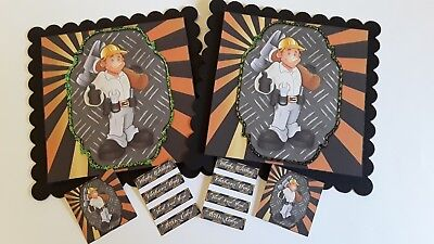 ⚘75~THE HANDY MAN ~BIRTHDAY/ ANY OCCASION ~PKT of 2~ Hand made card toppers~