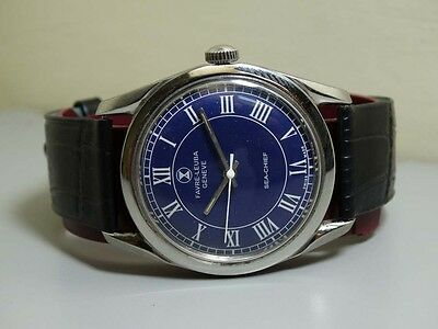 VINTAGE Favre Leuba Seachief GENEVE WINDING MENS WATCH USED e472 Old Antique
