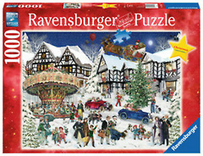 Ravensburger Puzzle 1000 T. Christmas limit. Edition Verschneites Dorf   (15359)