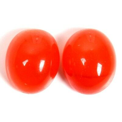 Elegant 11x9 mm CARNELIAN Oval Cabochon Top Gemstone 9.5 Cts For Earring S-28904