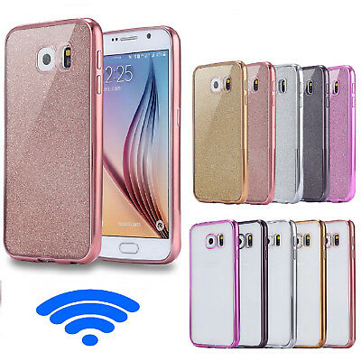 Shockproof Metal effect bumper Case Cover For Samsung Galaxy S8 S9 + Plus A6 J6