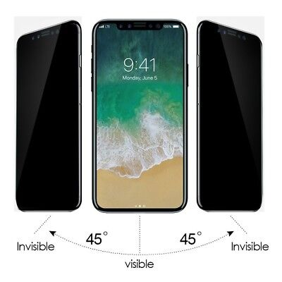 9H Curved Privacy Anti spy Tempered Glass Screen Protector For iPhone XS Max XR