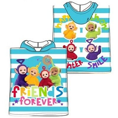 New Teletubbies Baby Toddler Swimming Beach Hooded Poncho Towel 100% Cotton