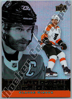 2018-19 UD TIM HORTONS SUPERSTAR SHOWCASE CLAUDE GIROUX INSERT CARD Flyers # SS6