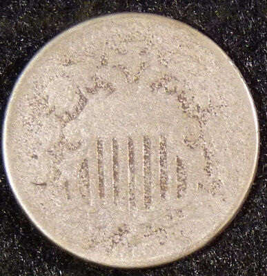 1866 with Rays Shield Nickel Coin    F43
