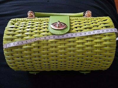 Pin Up Couture Wicker Korbtasche Lime 50s Pin Up
