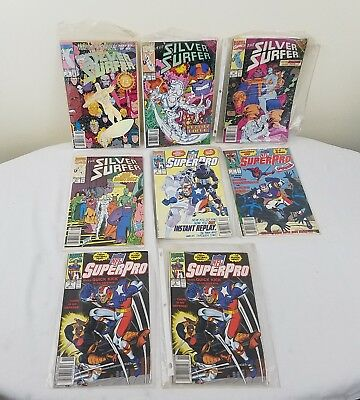Marvel Silver Surfer Comic Book Lot + Super Pro!