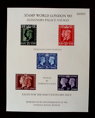 """GB 1990,""""STAMP WORLD LONDON 902-Essey for the Centenary issue,postfisch.(803')"""