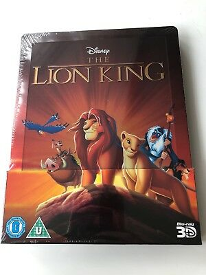 Disney The Lion King 3D Blu Ray Streelbook New And Sealed