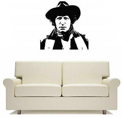 Tom Baker Wall Art Sticker Free Postage Dr Who Doctor Who Flies In the Tardis