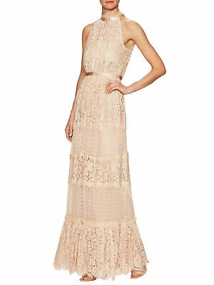 Temperley London Constance Cotton Panel Lace Gown, Size US 10, UK14