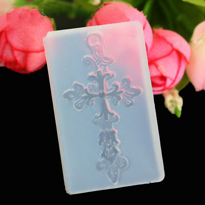 Cross Silicone Pendant Mold Jewelry Resin Necklace Mould Casting Craft Tool DIY