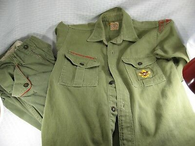 Vintage 1950s OFFICIAL BOY SCOUT UNIFORM Youth Shirt and Pants KANE PA