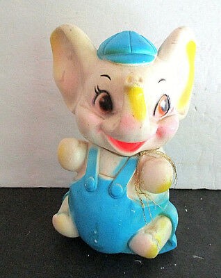 Vintage,  Plastic, Elephant Still  Bank. By Sanitoy, N.Y. Hand-painted .