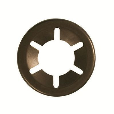 Genuine Starlock Retaining Push on Washers for Round Shafts 7mm pack of 10