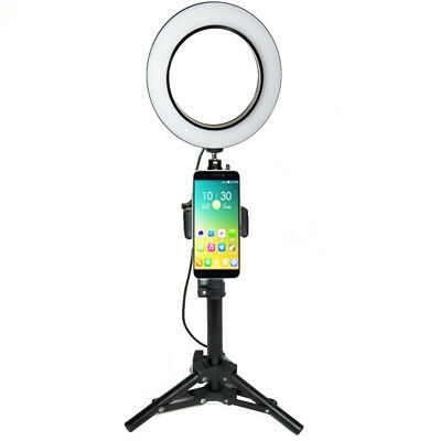 "USB LED Ring Light Photography 6"" Selfie Light Photo Camera Video Youtube Live #"
