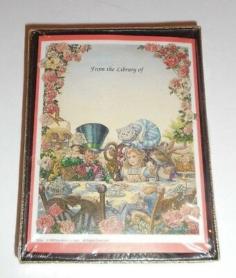 Vintage Bookplate In Box Book Plate Alice in Wonderland 30 count SEALED