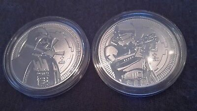 Niue 2x 1 Oz 999 Silber Star Wars Storm Trooper 2018 2017 Darth