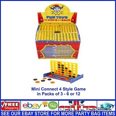 Connect 4 In A Row Mini Four In A Line Game Party Bag Filler Job Lots Wholesale