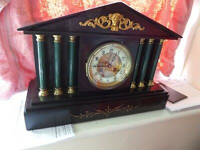 c 1880 FULLY RESTORED and SERVICED LARGE JAPY FRERES SLATE MANTEL CLOCK